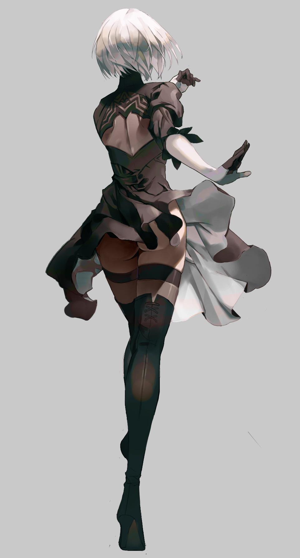 Nier Automata Yorha 2b Voitelnicy Anime Devushka Elfijka