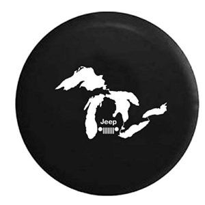 Jeep Grill Michigan Great Lakes Spare Tire Cover Jeep