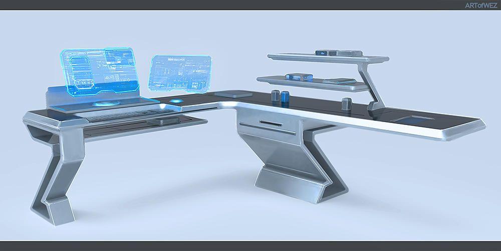 wonderful futuristic office desk   Tomorrow's Futuristic Computer Desk by W-E-Z   Science ...