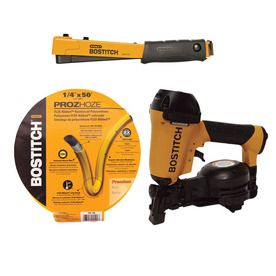 249 00 Bostitch Roofing Nailer Combo Kit With Hose And Hammer