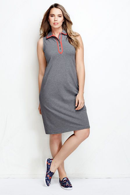 Women's Plus Size Sleeveless Polo Dress - Colorblock http://www.landsend.com/products/womens-sleeveless-polo-dress---colorblock/id_281808_57