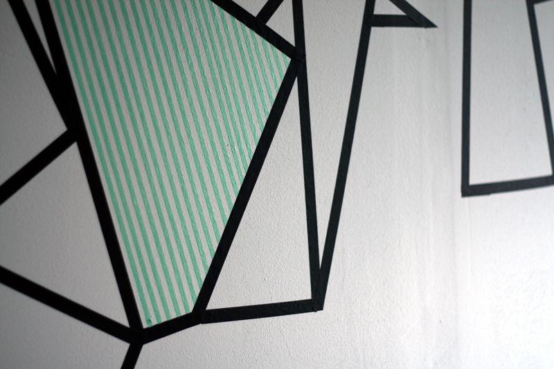 DIY wallart with masking tape - www.craftifair.com