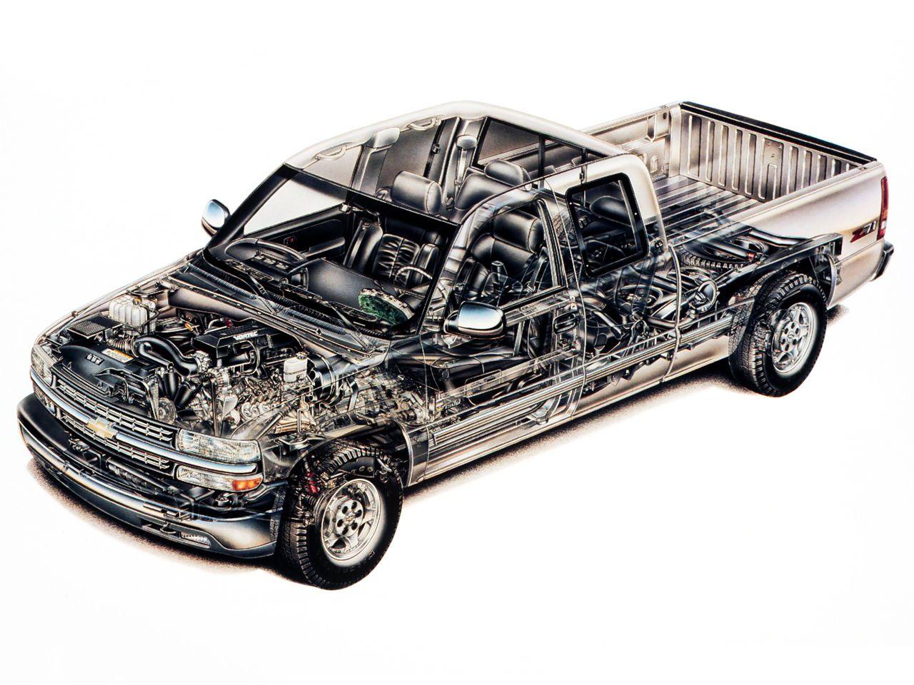 19992002 Chevrolet Silverado Z71 Extended Cab fron three