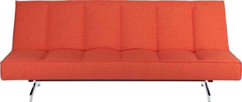 Flex Orange Sleeper Sofa Cb2 Overall Dimensionswidth 80 Depth 37 5 Height 33 Seatwidth 24 15 Openwidth 49