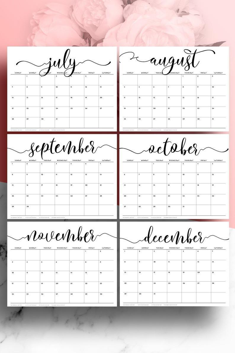 Desk Calendar 2021 Large Desk Calendar A3 Monthly Planner Etsy In 2020 Desk Calendar Planner Large Desk Calendar Printable Desk Calendar
