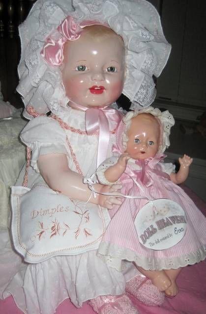 "RARE HUGE 28""  EIH HORSMAN BABY DIMPLES VINTAGE 1920s  COMPOSITION DOLL"