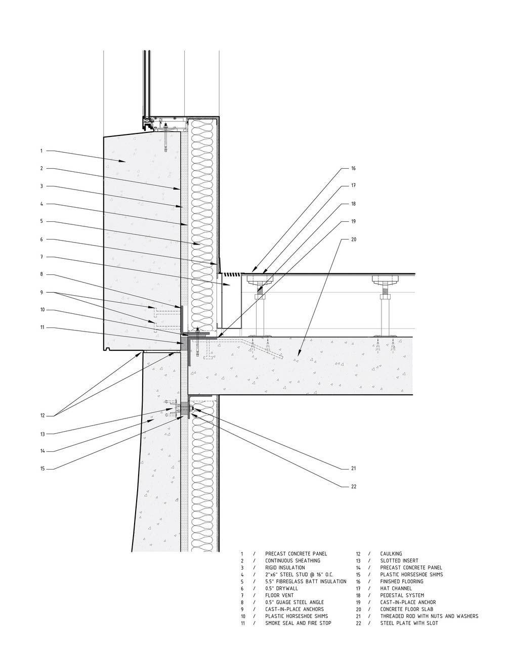 Precast Concrete Cladding Wall Detail Concrete Cladding