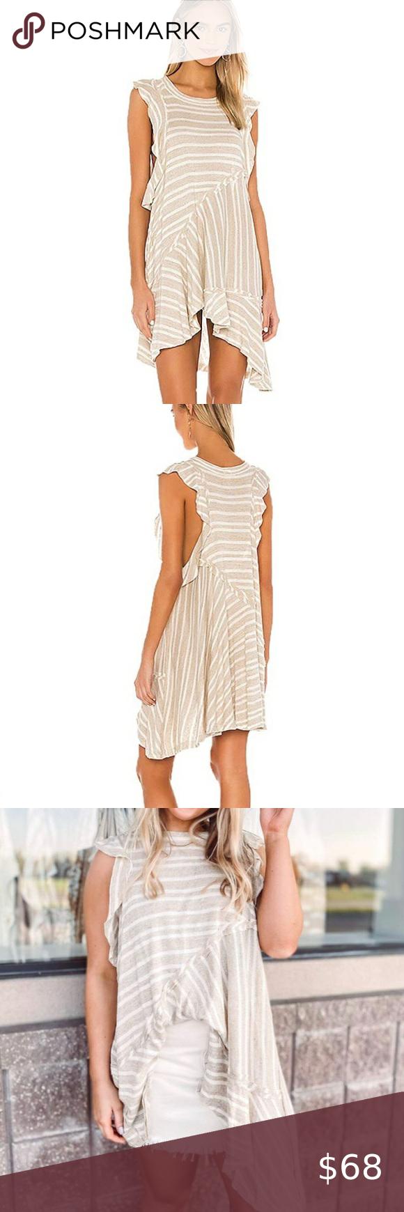 Free People Between The Line Tan White Dress Gorgeous Boho Style Free People Tan White Striped Between The Lines Fashion Clothes Design Gorgeous Dresses [ 1740 x 580 Pixel ]