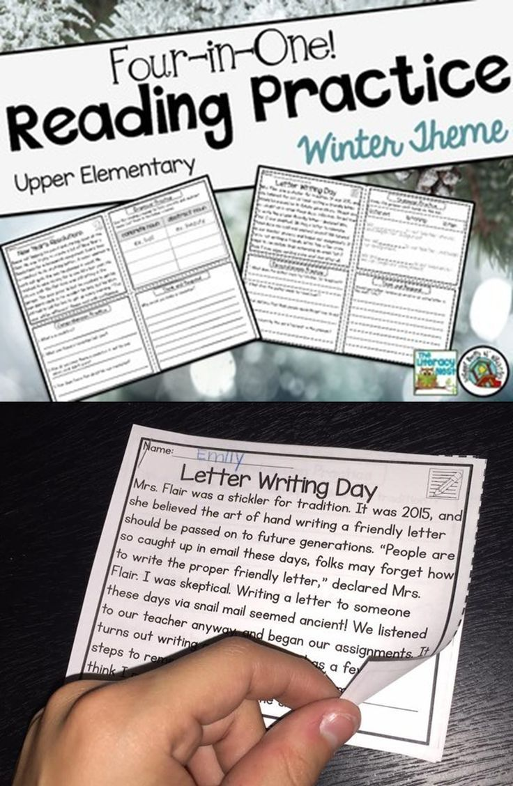 - Reading Comprehension Passages Upper Elementary Winter (With