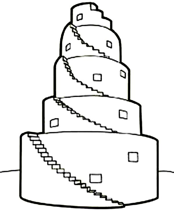 Tower Of Babel In Book Of Genesis Coloring Page Kids Play Color In 2020 Tower Of Babel Childrens Church Crafts Preschool Coloring Pages