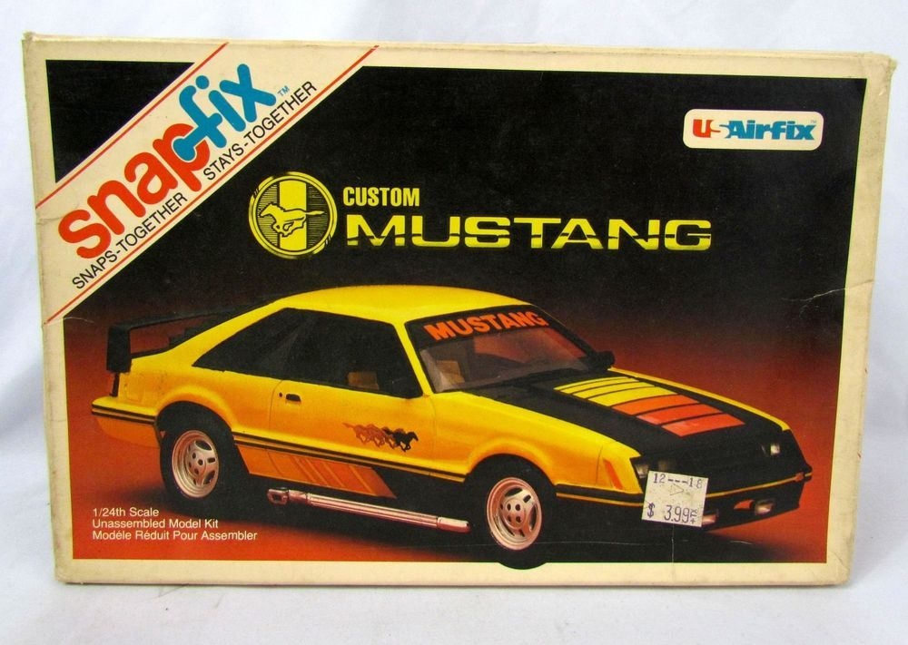 vtg 1980 usairfix snapfix 1 24 scale ford mustang custom model kit rh pinterest com 1980 ford mustang ky state police cruiser 1980 ford mustang for sale