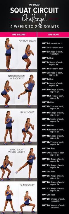 Exercise (along with a healthy diet) is the best natural way to achieve good health. Here is a squat routine I want to try.