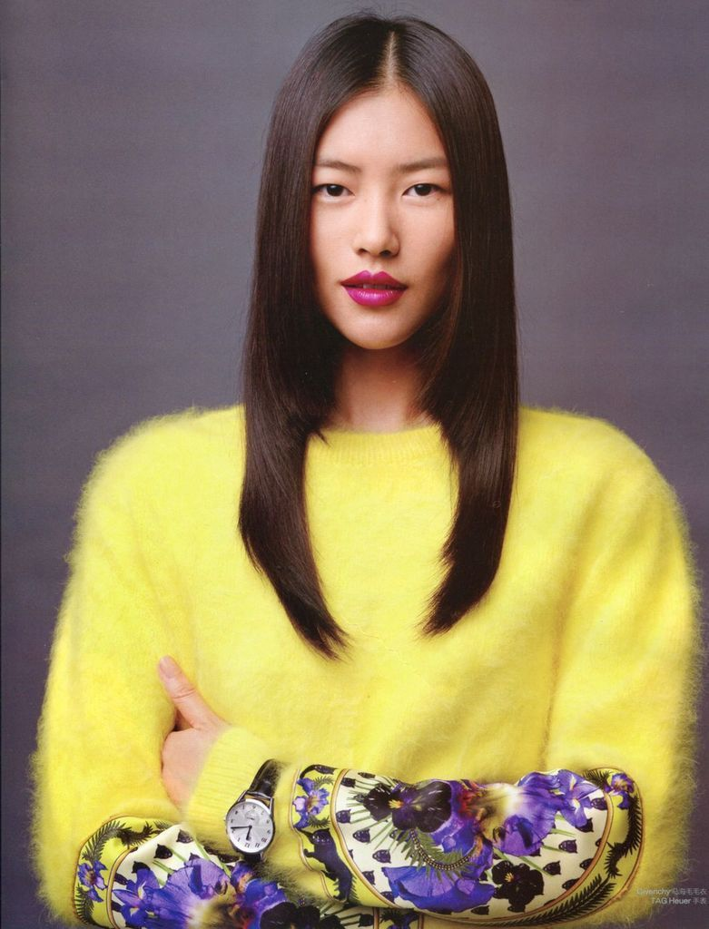 Bright yellow angora sweater /w silk print patch | Angora ...