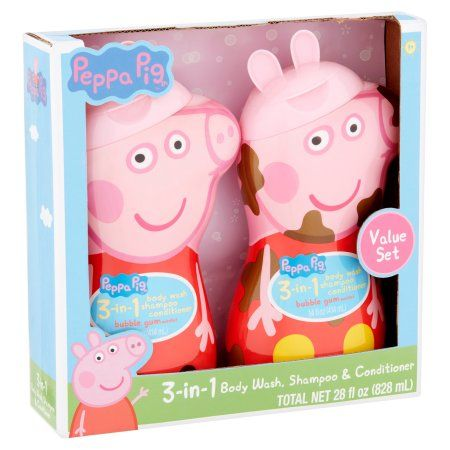Peppa Pig 3 In 1 Body Wash Shampoo Conditioner Value Set Age 3