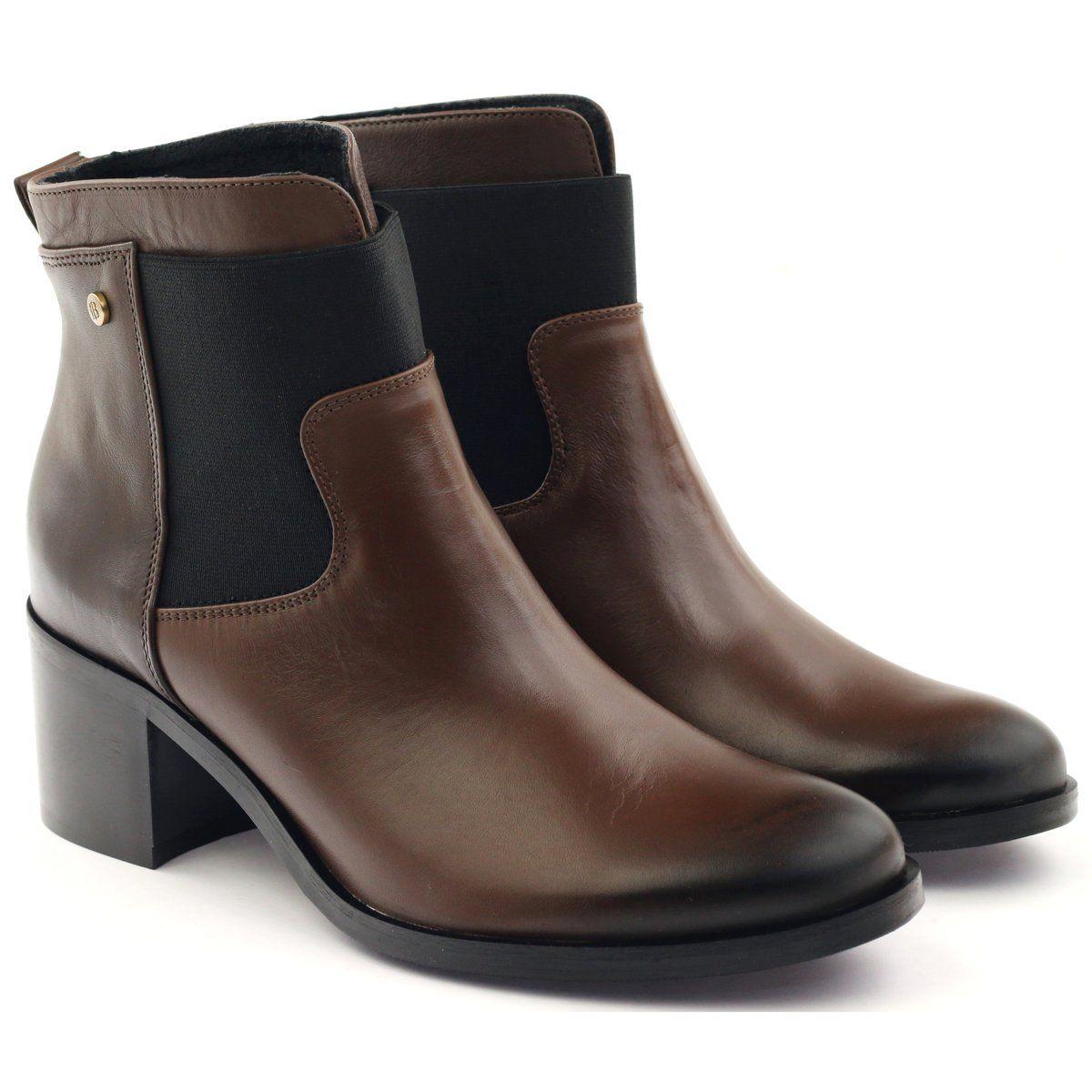 Botki Damskie Badura Czarne Botki Zimowe Brazowe Badura 7691 Chelsea Boots Boots Shoes