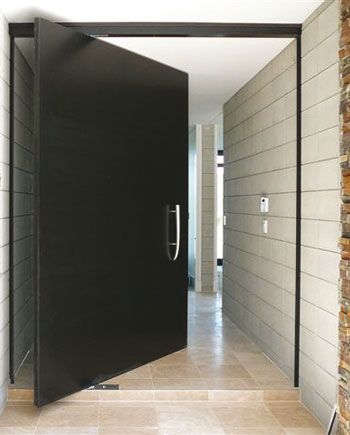 Cs Alutec Front Entry Pivot Door Architecture Design