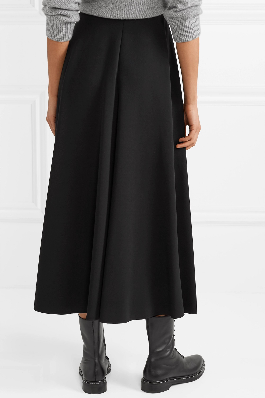 Black Mara Stretch Crepe Midi Skirt The Row Net A Porter Midi Skirt Skirts Minimal Fashion [ 3001 x 2000 Pixel ]