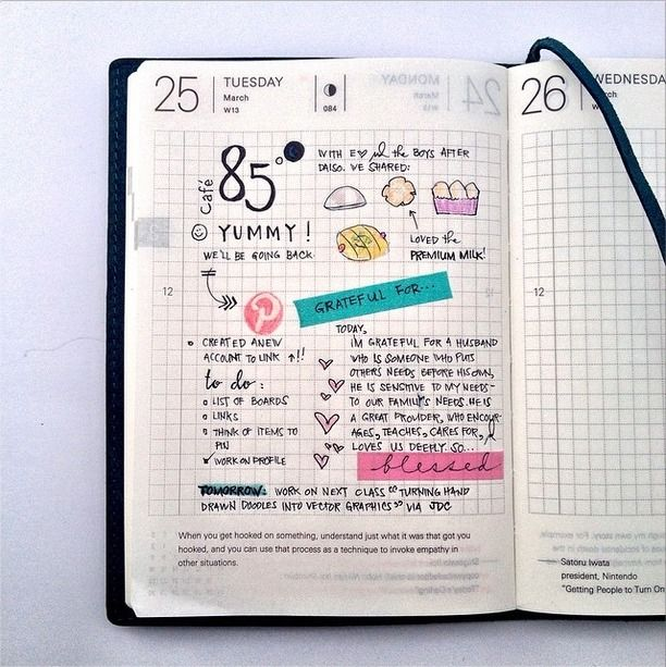 Hobonichi .| 2014.03.25 |. #hobonichitecho #planner #journal #doodle