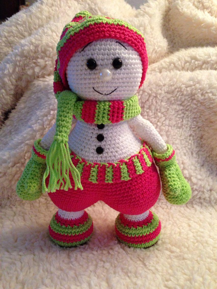Sweet Snowman Pattern Tiny Mini Design Zooo Leuk Future Projects