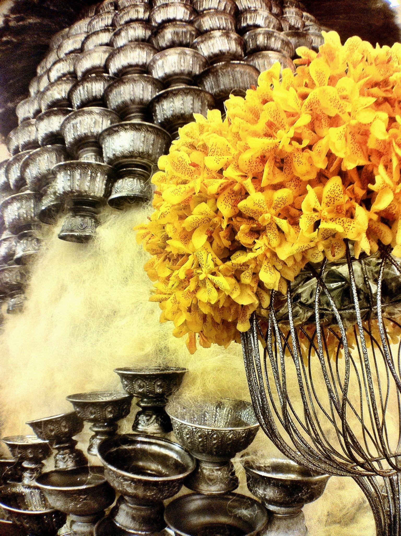 Thai style orchid arrangement thailand bangkok