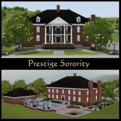 Check Out This Item From The Sims 3 Exchange Sorority House