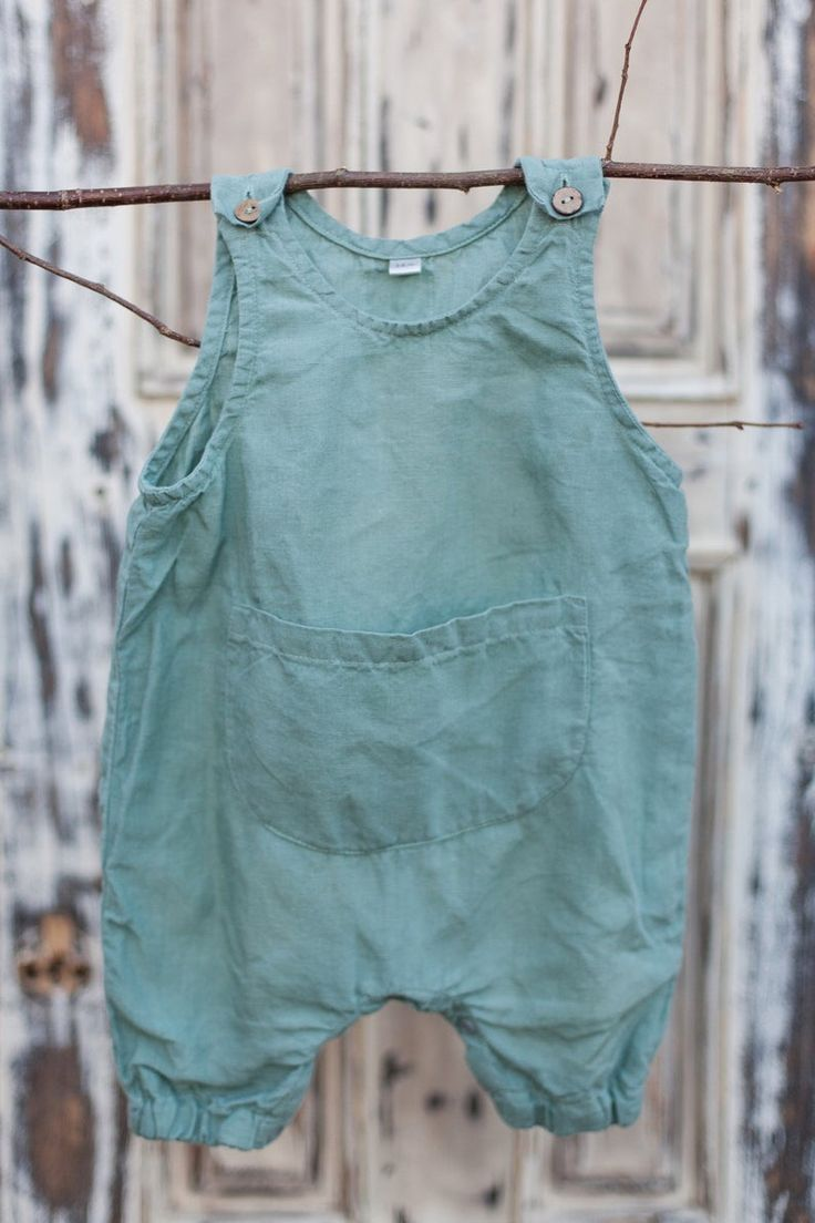 Linen Jumpsuit Mint Green Baby Overall Linen Overall Baby Clothes Overall for Kids Kids