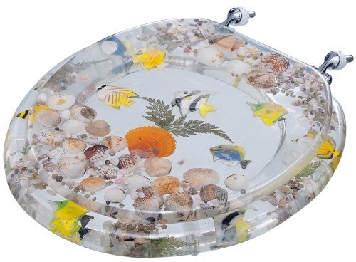 Tropical Fish American Standard Seashell Toilet Seat Cl
