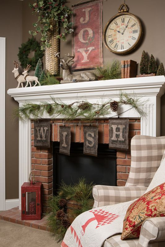 Delightful Country Christmas Mantel Decorating Ideas Part - 5: 50+ Absolutely Fabulous Christmas Mantel Decorating Ideas