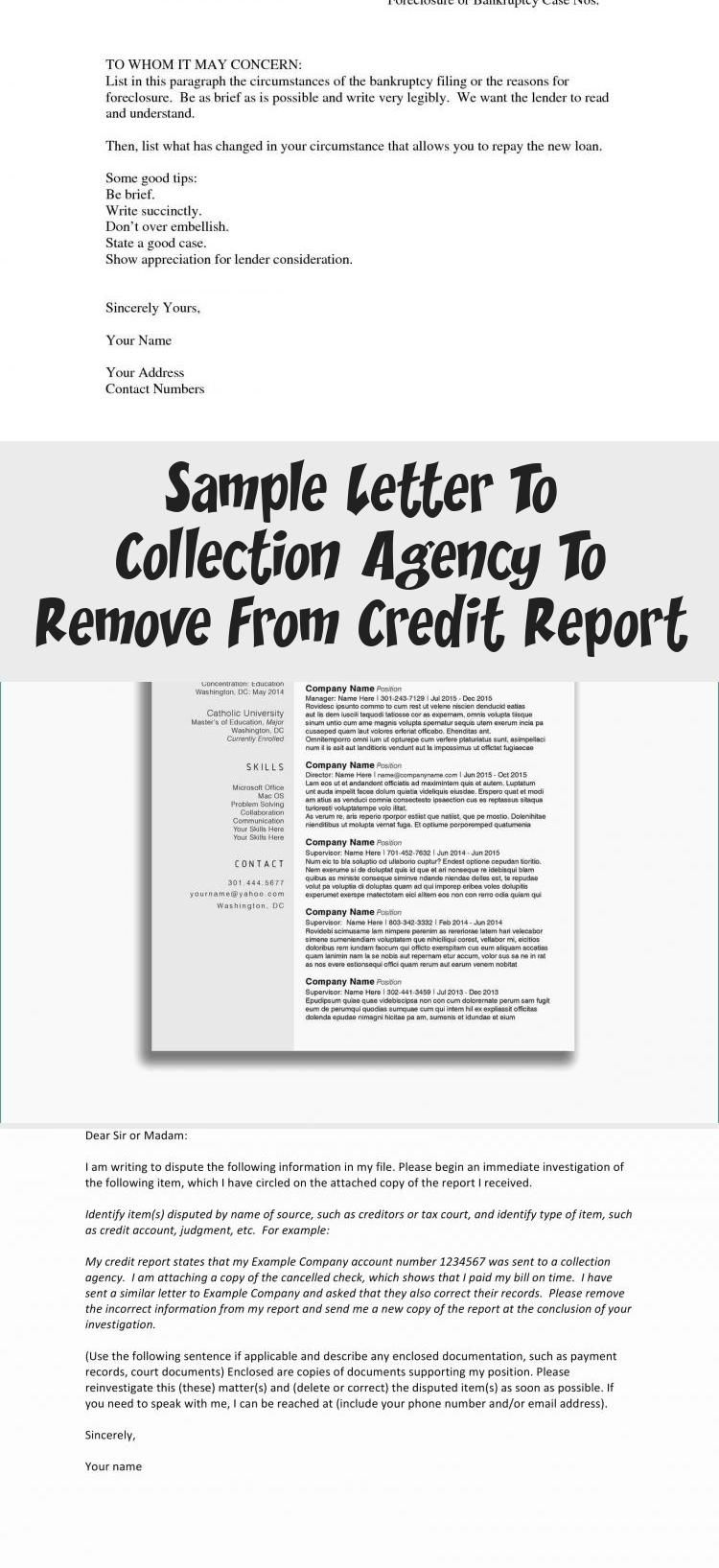 Remove collections from credit report without paying