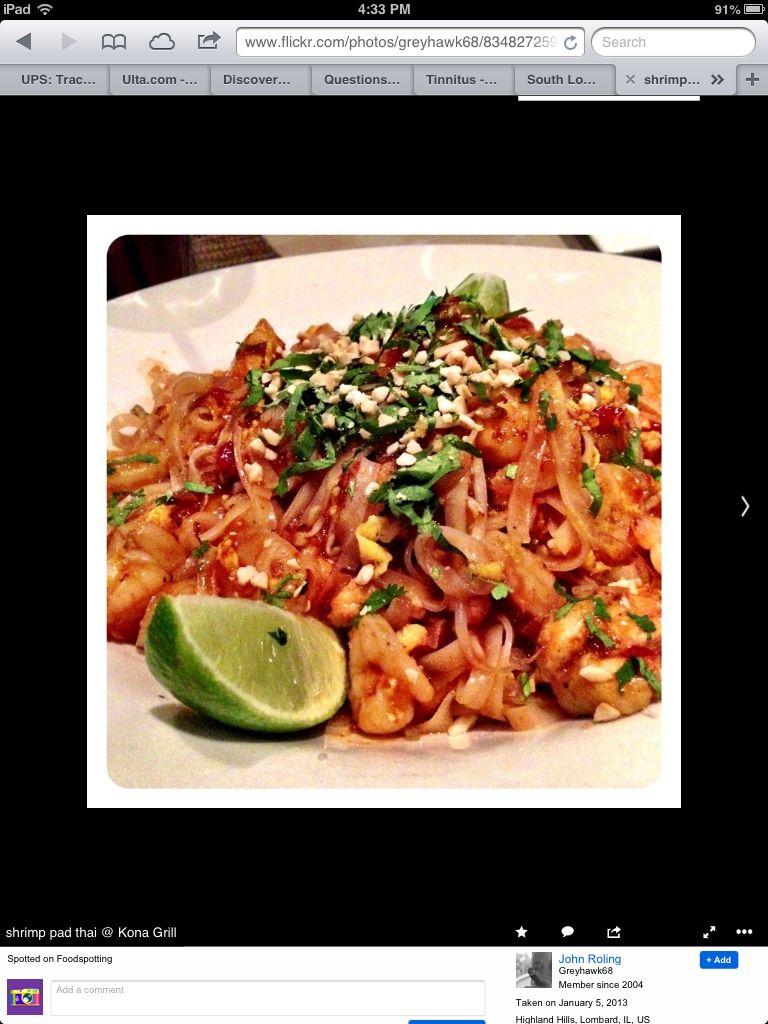 Kona grill shrimp pad Thai ..need a recipe for this