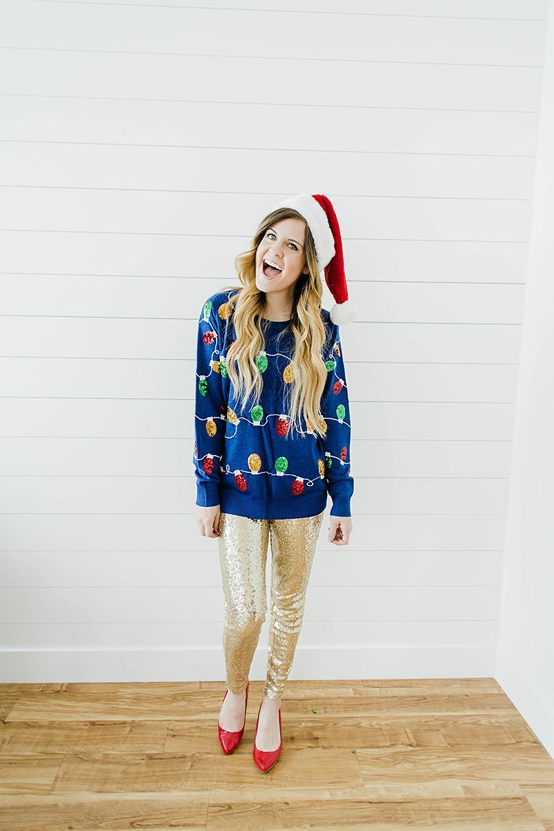 How to Style Ugly Christmas Sweaters, Party Ideas | HEY THERE ...