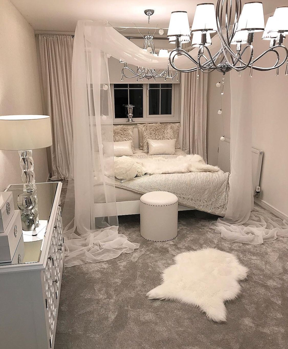 Achromatic Bedroom Space