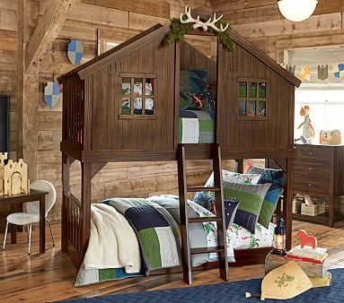 Tree House Twin Over Twin Bunk Bed Tree House Bunk Bed