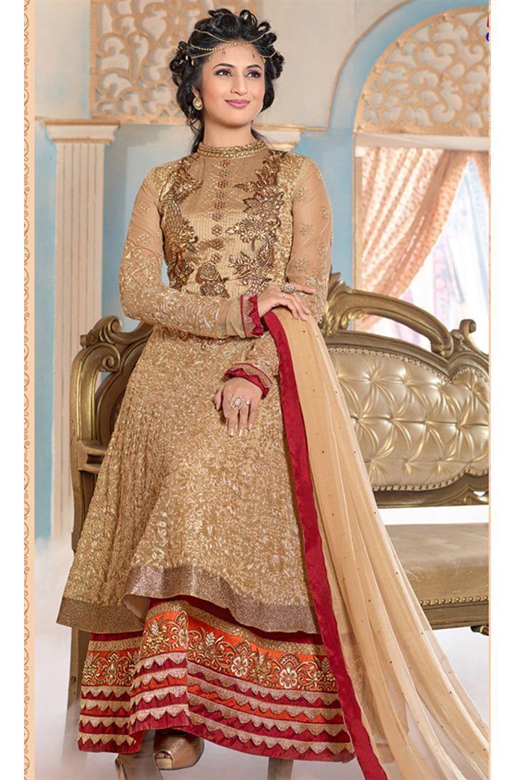 f133af03a4 Divyanka Tripathi Double Layered Anarkali Suit   Divyanka Tripathi ...