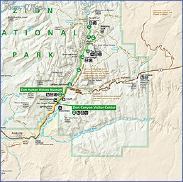 nice Zion National Park Map Tourist Attractions Tours Maps Pinterest