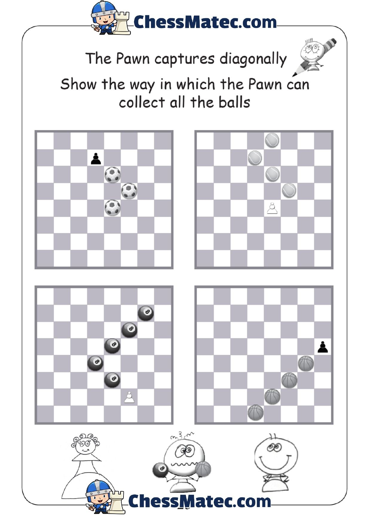 Pin On Chess Worksheets [ 1754 x 1241 Pixel ]