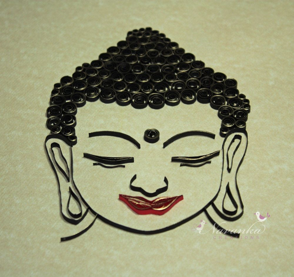 Buddha Wall Art with Paper Quilling by NavankaCreations on Etsy ...