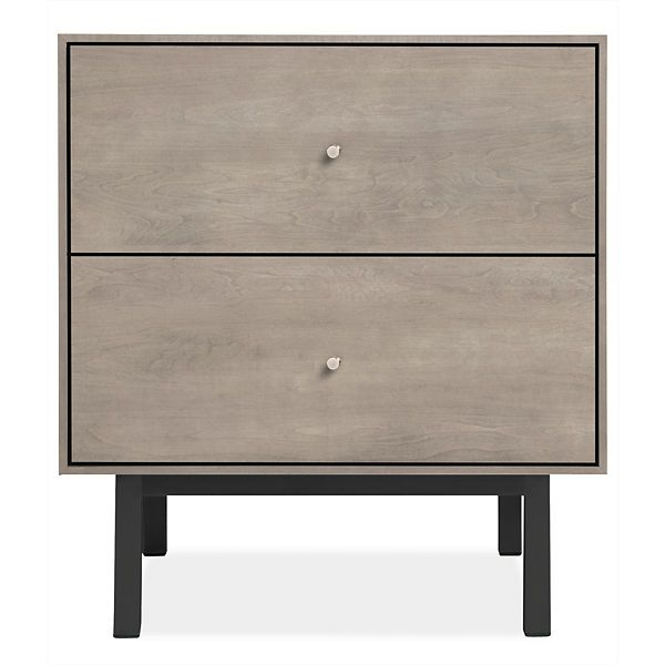 Room & Board - Hudson 20sq 22h Two-Drawer Nightstand with Steel Base