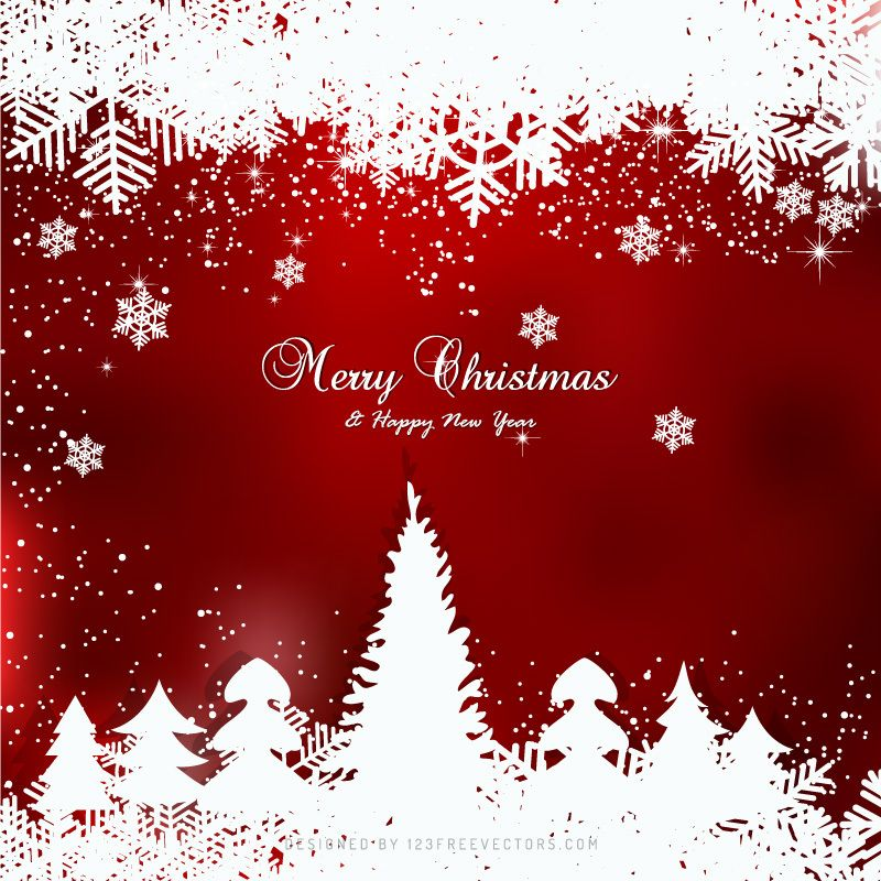 Red Christmas Winter Background With Snow And Trees Christmas Background Vector Christmas Backdrops Winter Background Merry christmas snow background hd