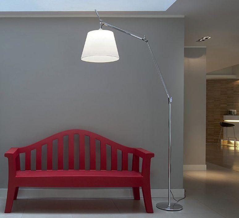 Floor Light Tolomeo Mega Terra Grey Dimmable Led H334cm O33cm Artemide Mit Bildern Designer Stehleuchten Stehlampe Moderne Stehlampen