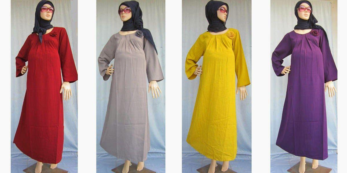 Model Baju Gamis Untuk Nenek Wanita Model Baju Muslim