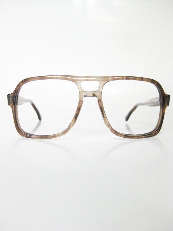 73c741b74e6 Aviator Eyeglasses 1970s Unisex Glasses Tortoiseshell Optical Frames  Oversized Wayfarer Indie Hipster 70s Mens Womens USA