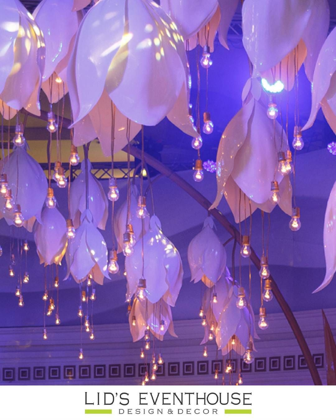 Wedding decorations using crepe paper  Smaller versions with battery operated twinkle lights  party ideas