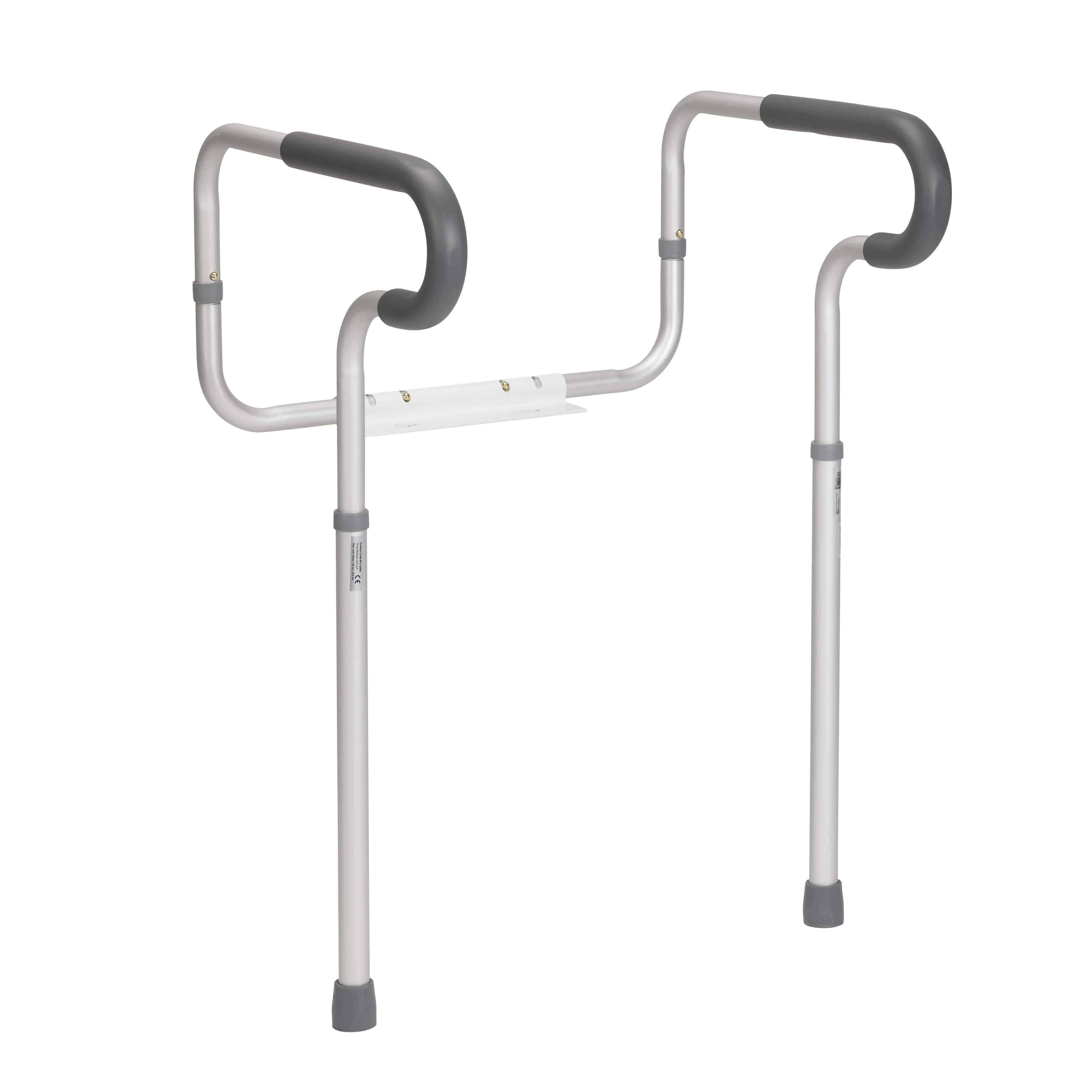 Drive Medical Toilet Safety Frame with Padded Armrests in
