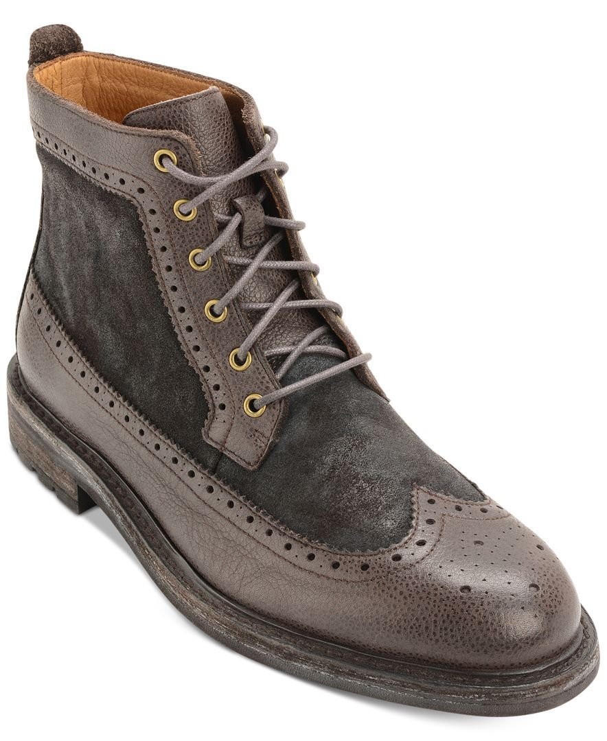 Polo Ralph Lauren adds steampunk style to your look with these super  fashionable wingtip boots.