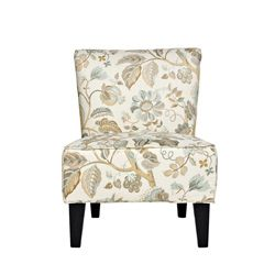 Pin By Beverly Fussell On Chairs Floral Chair Armless