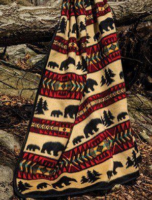 Cabin Fever Cozy Bear 60x80 Inch Blanket Cabin Fever Http Www Amazon Com Dp B00faal4oq Ref Cm Sw R Pi Dp B Adventure Blanket Twin Blanket Rustic Bedding Sets