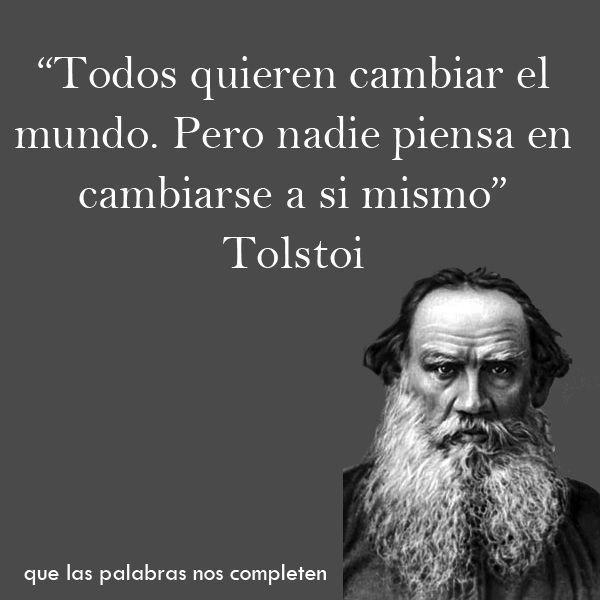 25 Grandes Frases de Grandes pensadores - Taringa! | Tolstoi frases, Frases  filosoficas, Frases celebres de filosofos