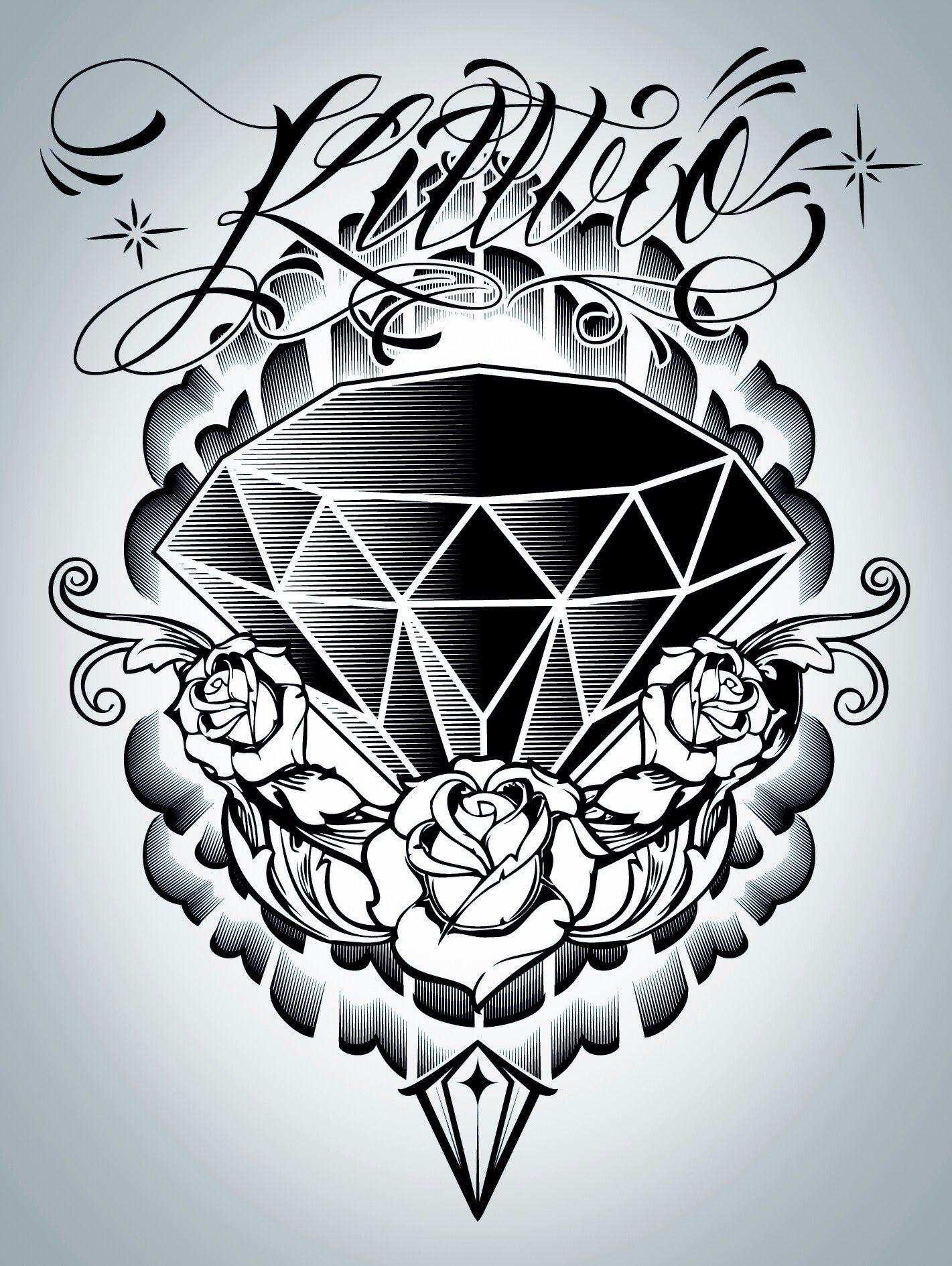 Pin By Nod 346 On Arte Cholero Worldwide Diamond Tattoo Designs Diamond Tattoos Tattoo Designs