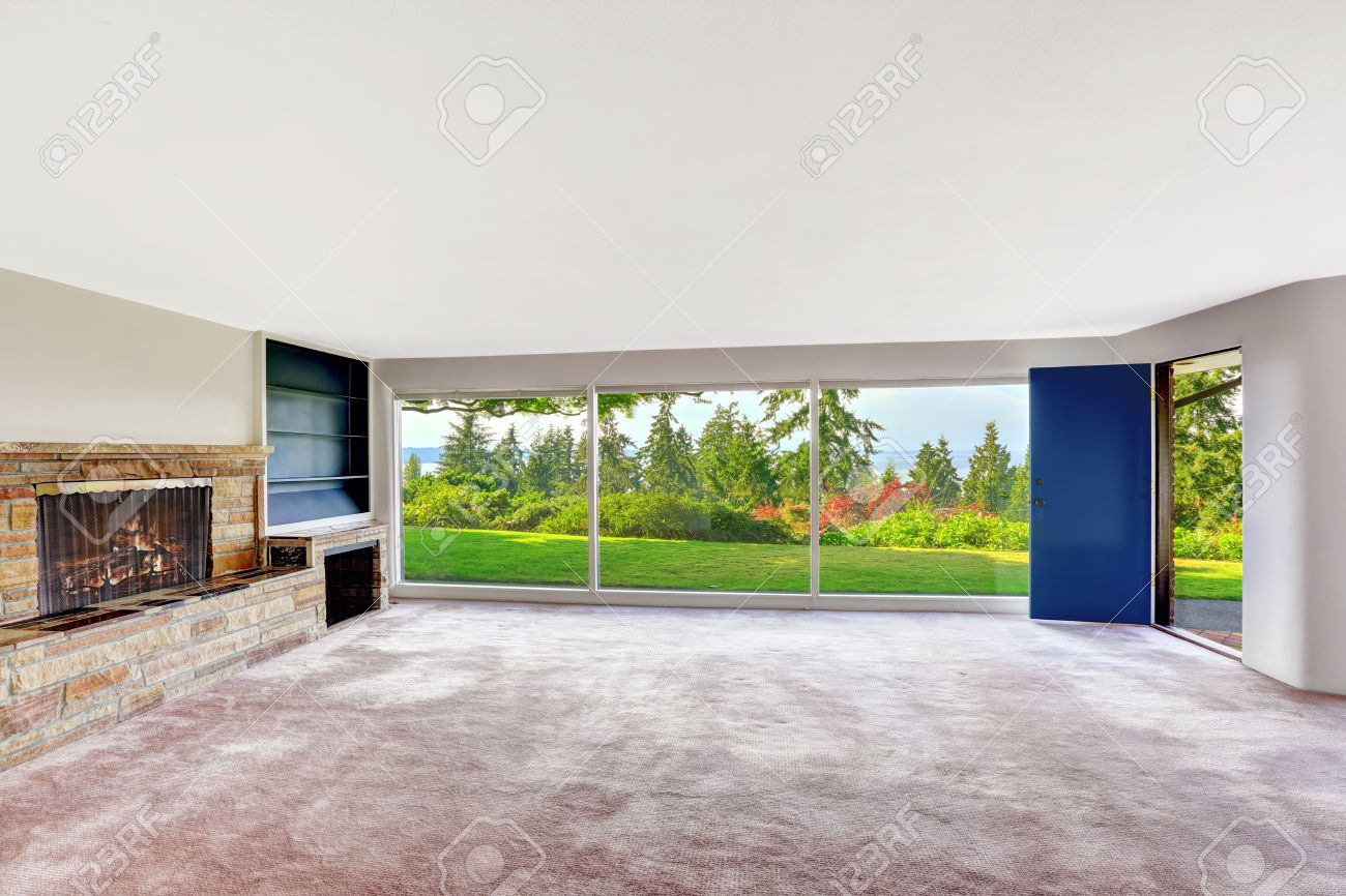 Empty living room with carpet - Empty Room Interior With Floor To Ceiling Windows And Scenic View Living Room Ideas Pinterest Empty Room Room Interior And Ceiling